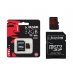 Карта памяти Kingston microSDHC 32Gb UHS-I U3 90R/80W